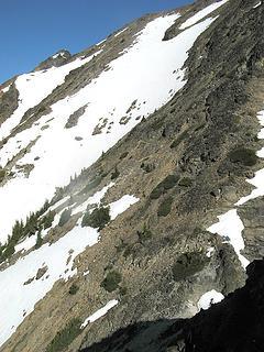 Back side of Gabriel false summit (true summit at far end)