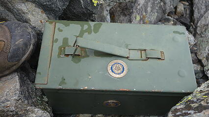 American Legion summit register box