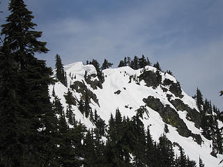 View of the false summit.