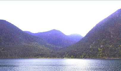 DRY CREEK DRAINAGE AS SEEN FROM LAKE CUSHMAN ROAD