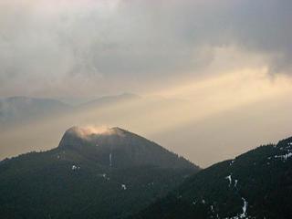 Last rays on Mount Si