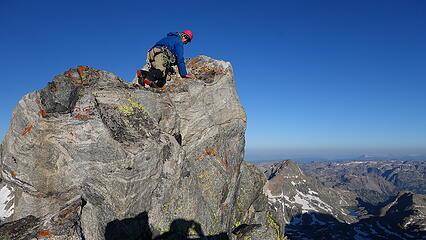 Eric on top of Pinnacle Ridge