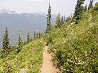 Views heading down Crystal Peak trail.