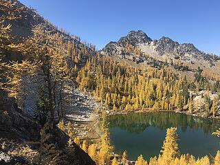 Heading to Upper Finney Lake - lower Finney below us - Indianhead Pass behind