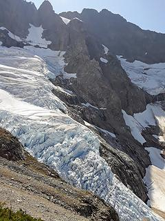 icefall on middle cascade glacier