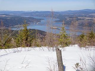 The southern end of Lake Coeur d'Alene called Lake Chatcolet.