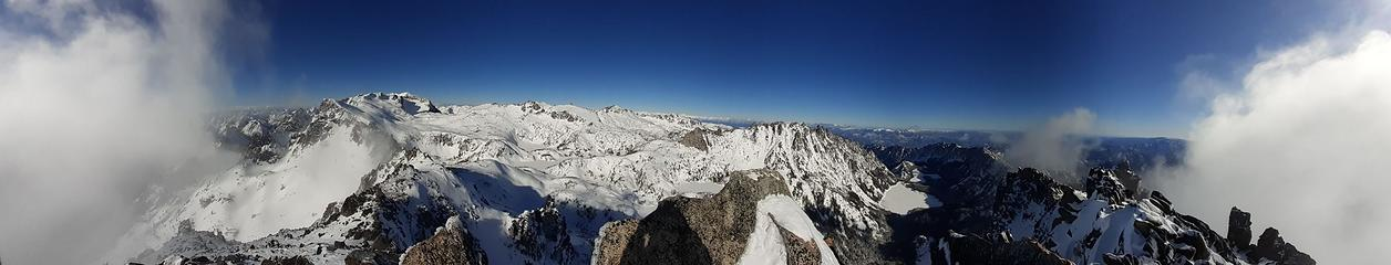 The view of the Enchantments from the summit