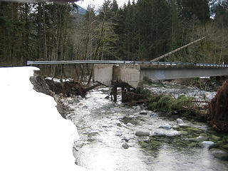 Taylor River bridge after the 2009 flood. Photo by Aaron Pease.