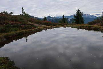 tiny pond high on Hannegan Peak...water source for camping up top.