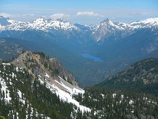 Summit Chief group and Bears Breast above Waptus Lake