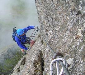 Expert level Via Ferrata on Garfield Peak