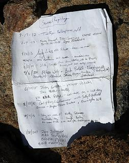 Summit register page 1