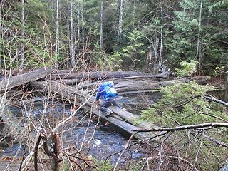 John crossing Barclay Creek