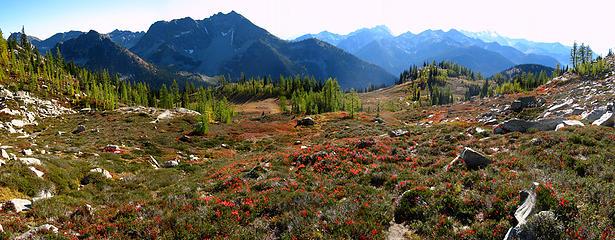 Stilletto Meadows pan looking toward Hock