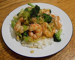 Wild Argentine Shrimp with Broccoli and Bok Choy Stir Fry 041220