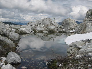 tarn and clouds