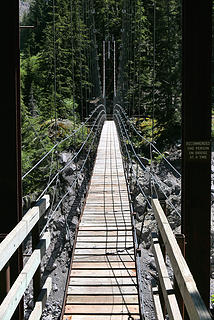 7. Tahoma Creek suspension bridge