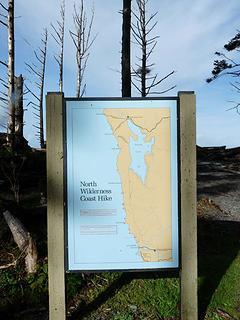 The coast trail head from Rialto