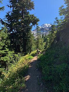 approaching top of Vista Ridge