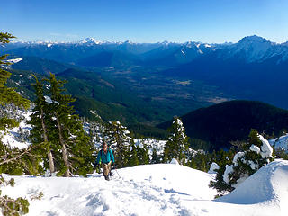 Rich nearing the summit
