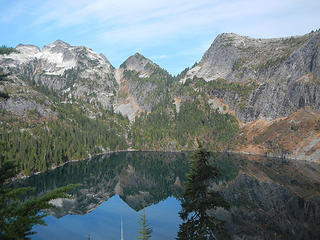 lower Thornton Lake below Thornton Peak and X Mountain