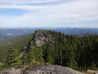 Rocky outcrops near the top.