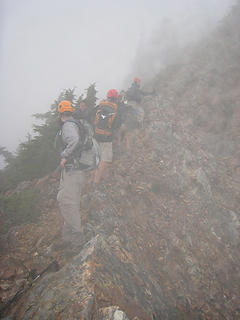 Regrouping on the way down