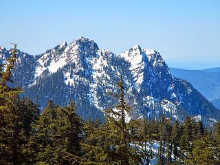 Russian Butte seen from Preacher Mountain, April 2014
