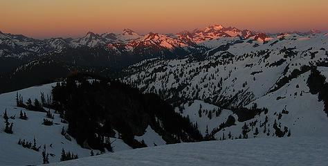 Last light on Dome Peak