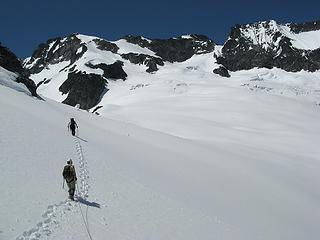 Curving up the Douglas Glacier