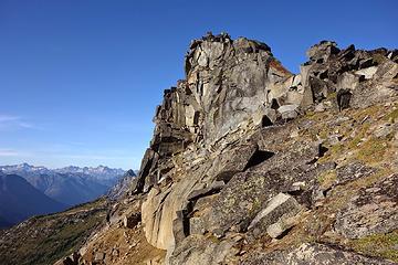 Easy summit scramble
