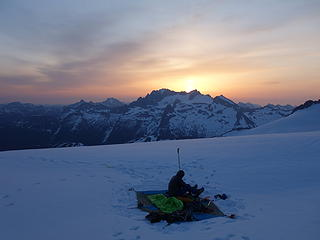 Our bivy at 8000 feet on Boston Glacier