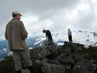 People standing around on Not-Liberty summit