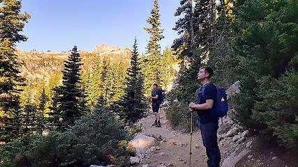 first views, maple pass and Corteo above
