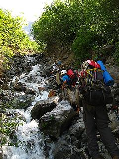 Up the stream