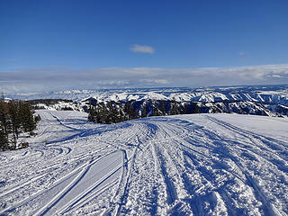 Looking southeast from the guard station. This is a popular snowmobiling area.