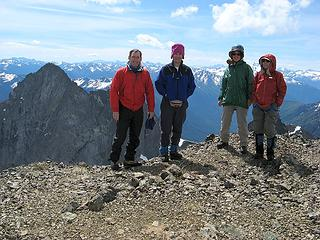 Summit – Matt, Mike, Beth, Fay