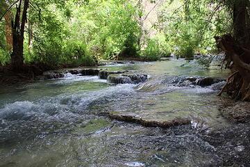 Creek runs through the campsite