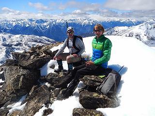 Josh and Matt on the summit