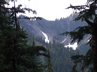 View of Fisher's Notch from west side of Anderson Pass
