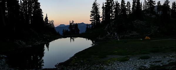 Campsite in upper Lillian basin