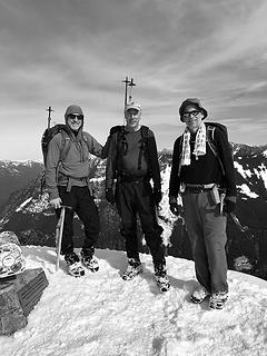 Summiteers after an ascent of the North Ridge of Mailbox Peak