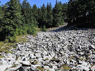 Talus river