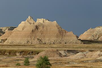 Great light on the Badlands formations