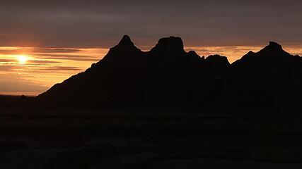 Sunrise over Badlands National Park