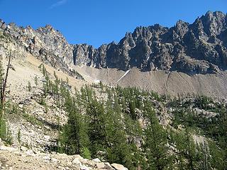 9am, 6900 feet, First view of Tupshin from ridge crest