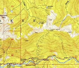 1950s trail map and lookout label