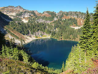 Lower Twin Lake from Ridge