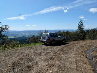 Parking at 4980' on Rd 40 just before Bucket Spring.