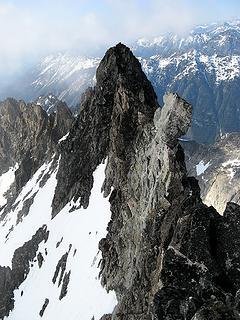 Further towers on Logan summit ridge